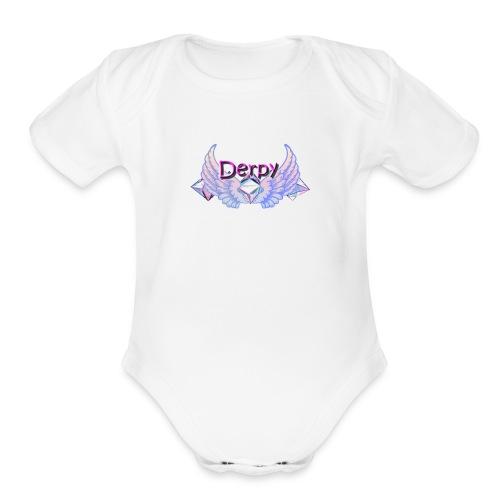 Derpy Main Merch - Organic Short Sleeve Baby Bodysuit