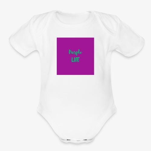 Purple Life - Organic Short Sleeve Baby Bodysuit