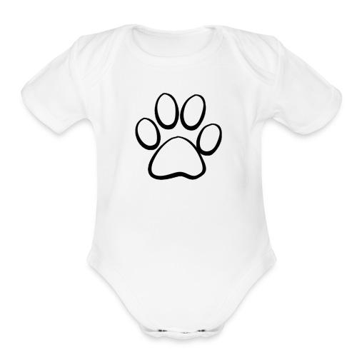 Paw White - Organic Short Sleeve Baby Bodysuit