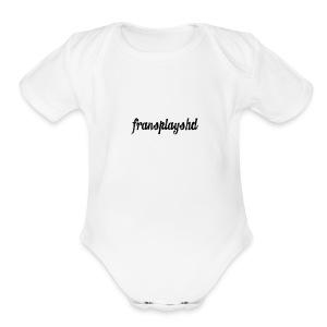 FransPlaysHD Merch - Short Sleeve Baby Bodysuit