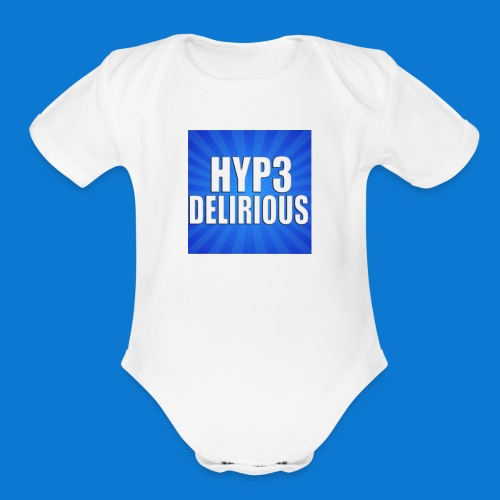 HYP3Delirious Logo - Organic Short Sleeve Baby Bodysuit
