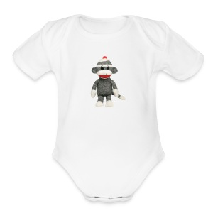 Sock Monkey - Short Sleeve Baby Bodysuit