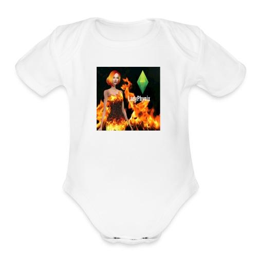 LadyPhynix - Organic Short Sleeve Baby Bodysuit