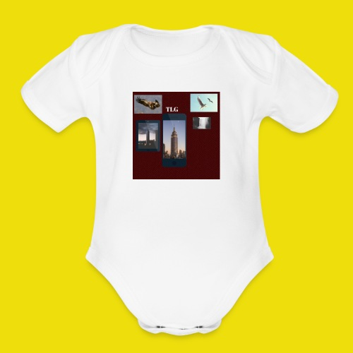 tlg 1 - Organic Short Sleeve Baby Bodysuit