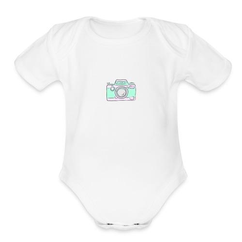 vlogger's jumper - Organic Short Sleeve Baby Bodysuit