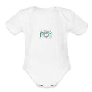 vlogger's jumper - Short Sleeve Baby Bodysuit