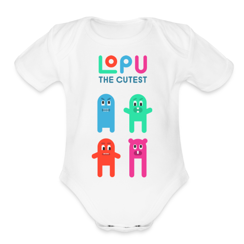 Lopu - The Cutest - Organic Short Sleeve Baby Bodysuit