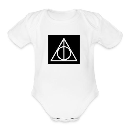 Harry Potter Deathly Hallows Mark - Organic Short Sleeve Baby Bodysuit