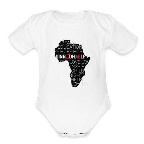 DINNoedhjaelp Africa logo - Organic Short Sleeve Baby Bodysuit