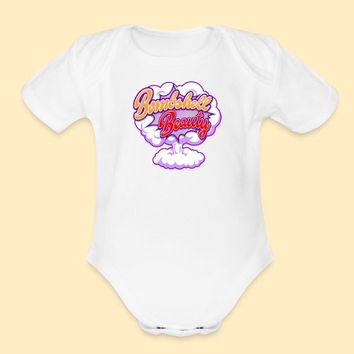 Bombshell Beauty - Organic Short Sleeve Baby Bodysuit
