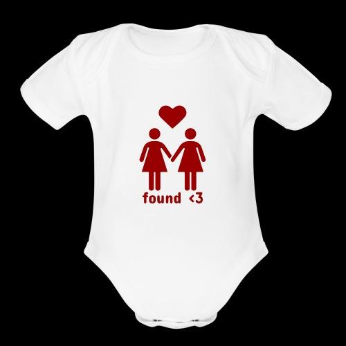 Found Love | Female Relationship - Organic Short Sleeve Baby Bodysuit