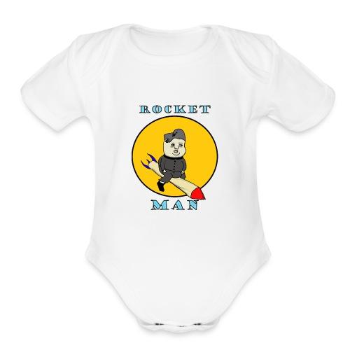 Rocket Man - Organic Short Sleeve Baby Bodysuit