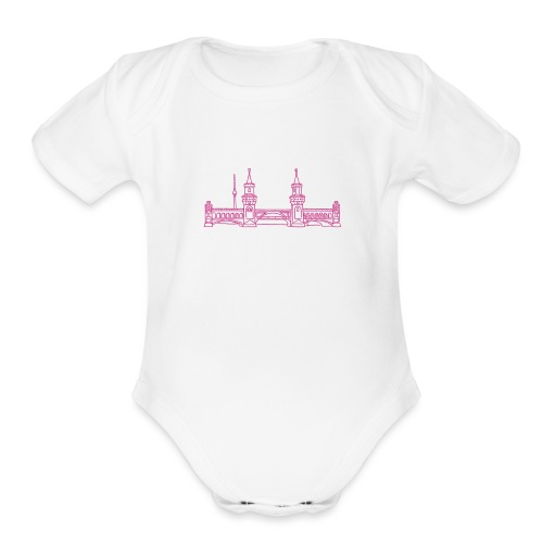 Oberbaum Bridge in Berlin - Organic Short Sleeve Baby Bodysuit