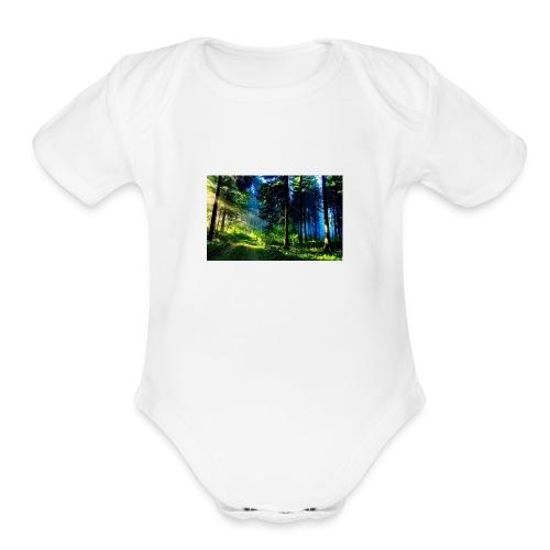 Forest - Organic Short Sleeve Baby Bodysuit