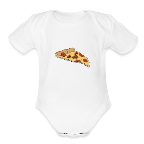LOVE DA PIZZA - Organic Short Sleeve Baby Bodysuit