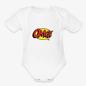 omg - Short Sleeve Baby Bodysuit