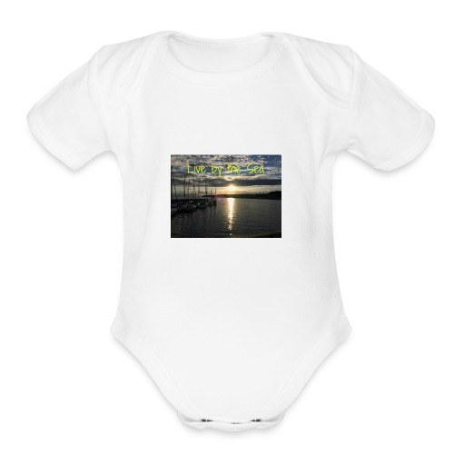Live by the sea - Organic Short Sleeve Baby Bodysuit