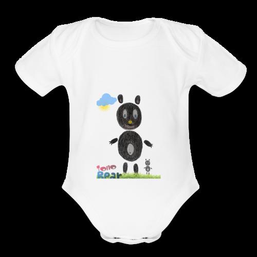 Tono bear - Organic Short Sleeve Baby Bodysuit