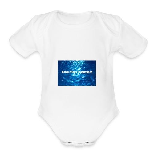 Robsu Vlogs Productions - Organic Short Sleeve Baby Bodysuit