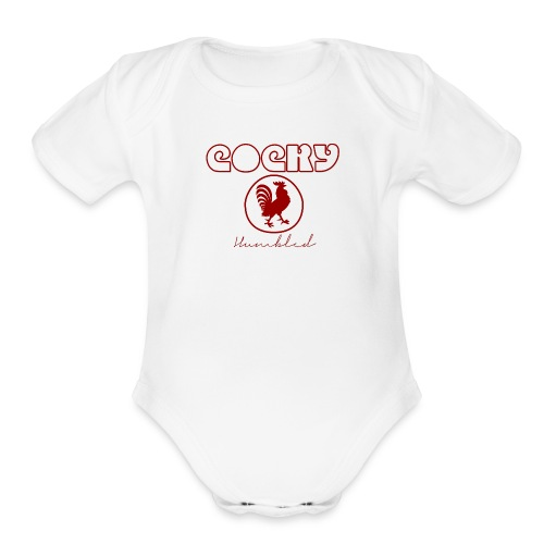 Red Humble Cock 2 - Organic Short Sleeve Baby Bodysuit