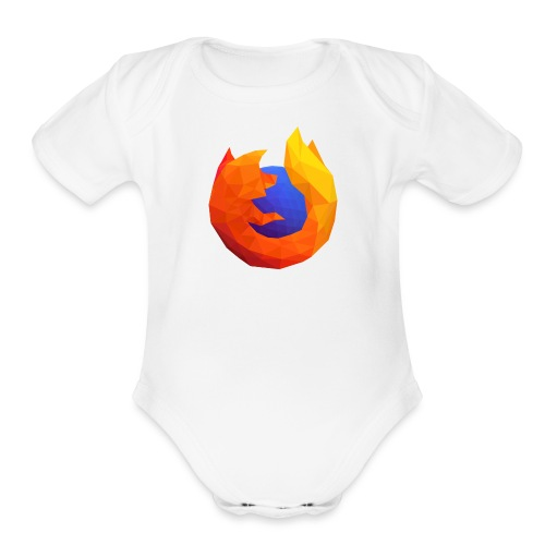 Firefox Reality Logo - Organic Short Sleeve Baby Bodysuit