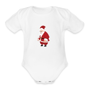 santa Claus - Short Sleeve Baby Bodysuit