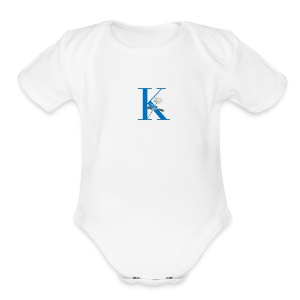 Initial Rose - Short Sleeve Baby Bodysuit