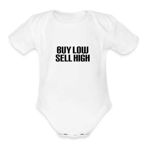 Buy Low Sell High - Organic Short Sleeve Baby Bodysuit