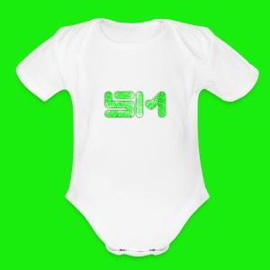 SloMotion logo - Short Sleeve Baby Bodysuit