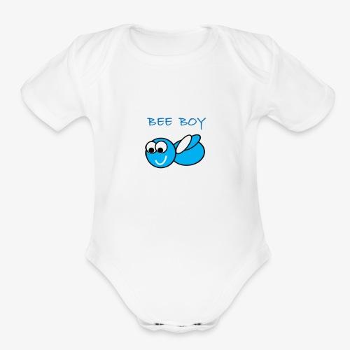 Bee Boy - Organic Short Sleeve Baby Bodysuit