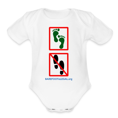 No shoes yes feet - Organic Short Sleeve Baby Bodysuit