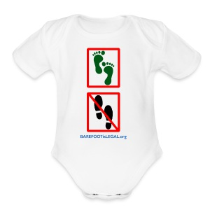 No shoes yes feet - Short Sleeve Baby Bodysuit