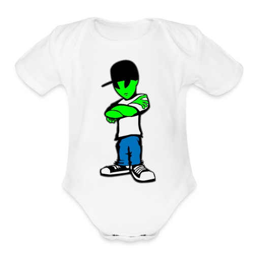 Alien - Organic Short Sleeve Baby Bodysuit
