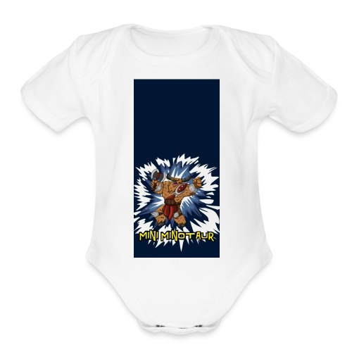 minotaur5 - Organic Short Sleeve Baby Bodysuit
