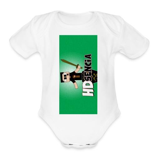 iphone5green - Organic Short Sleeve Baby Bodysuit