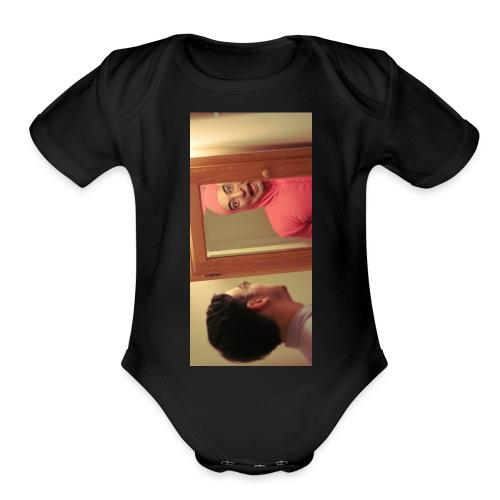 pinkiphone5 - Organic Short Sleeve Baby Bodysuit