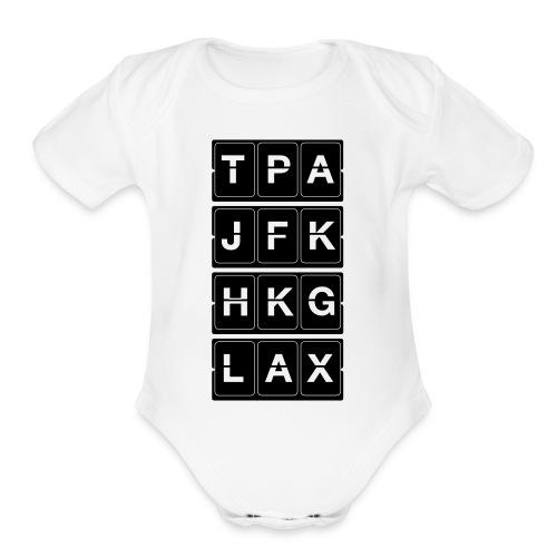 Catching Flights Tee - Organic Short Sleeve Baby Bodysuit
