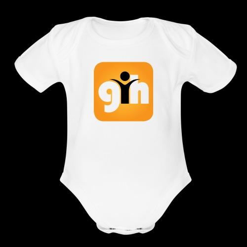 Global Humaist Magazine Icon - Organic Short Sleeve Baby Bodysuit