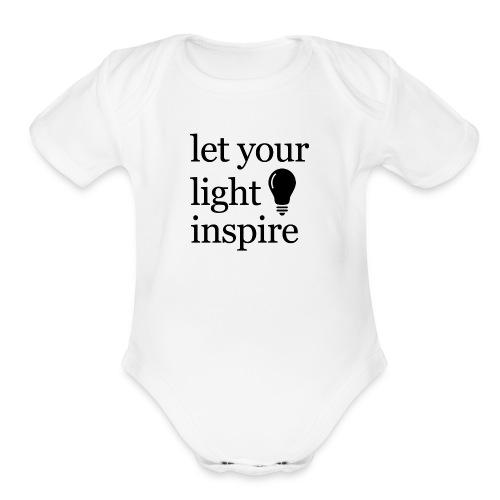 Let Your Light Inspire Sports Tank (black font) - Organic Short Sleeve Baby Bodysuit
