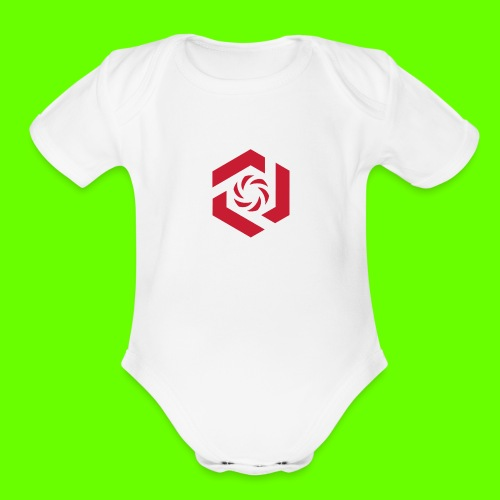 Temporary Logo Design - Organic Short Sleeve Baby Bodysuit
