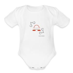 Crazyjoegrover logo - Short Sleeve Baby Bodysuit