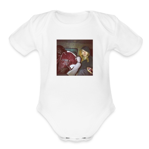 Biggie and Kurt Cobain - Organic Short Sleeve Baby Bodysuit