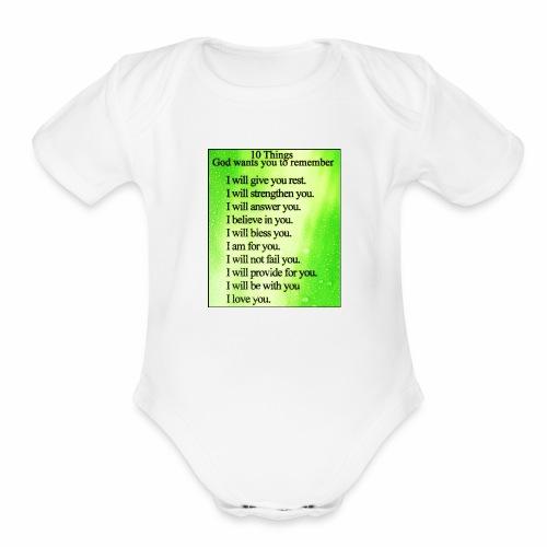 Godly - Organic Short Sleeve Baby Bodysuit