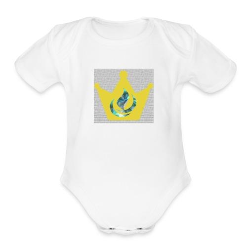 Flaming Crown - Organic Short Sleeve Baby Bodysuit