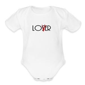 Loser Lover - Short Sleeve Baby Bodysuit