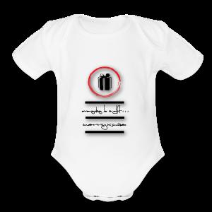 gift-box - Short Sleeve Baby Bodysuit