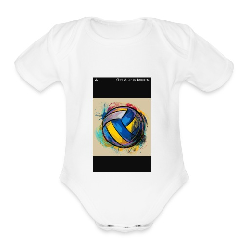 I won't won't stop til I want to stop - Organic Short Sleeve Baby Bodysuit