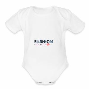 Fashion and Beauty - Short Sleeve Baby Bodysuit