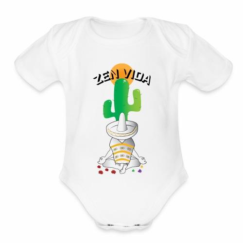 Zen Vida - Organic Short Sleeve Baby Bodysuit
