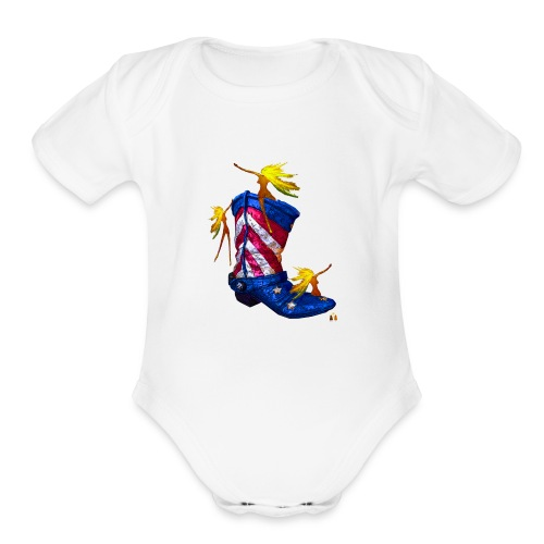 Boot Hoot - Organic Short Sleeve Baby Bodysuit